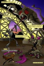 Chapter Alpha One battles a tentacular monstrosity at the Eiffel Tower